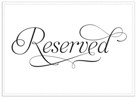 Weddingbee Gallery Pictures Of Real Weddings Reserved Table Sign Template