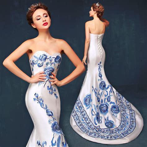 25417 White Cheongsam Size S aliexpress buy dresses cheongsam evening dress royal blue white s bra satin