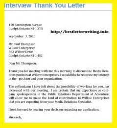 thank you letters business letter exles