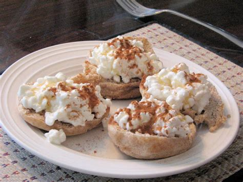 cottage cheese honey and cinnamon on toast recipe food