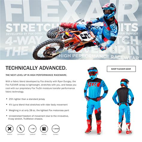 fox motocross suit motocross gear clothing fox racing mx