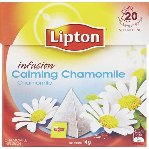 teh migrain lipton chamomile herbal infusion lipton herbal infusion pyramid tea bags calming chamomile