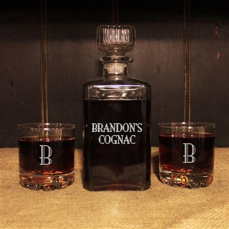 whiskey barware personalized glass whiskey decanter set engraved barware