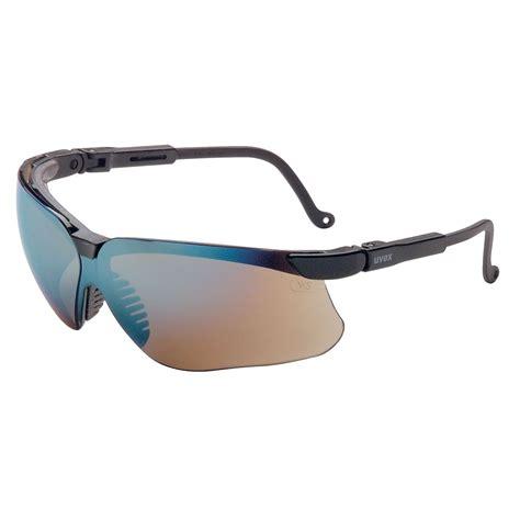 uvex s3203 genesis glasses black frame gold mirrored