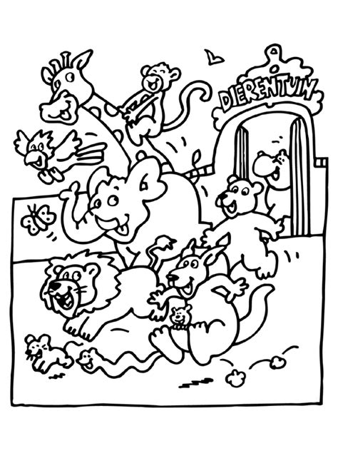 coloring page of zoo animals free printable zoo coloring pages for kids