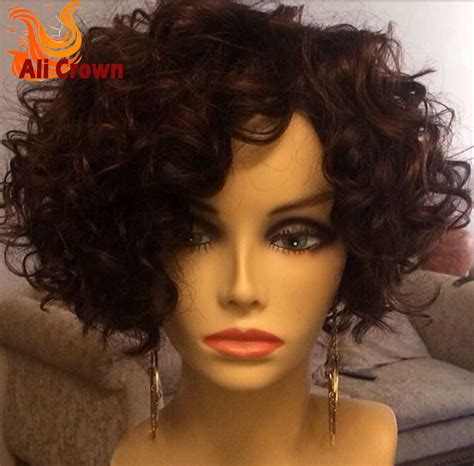 Short Curly Human Hair Full Lace Wigs Body Wave Indian | short curly bob wig virgin human hair bob wig lace front