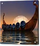 Totebag Boat Ori Dangmark viking boat greeting card for sale by corey ford