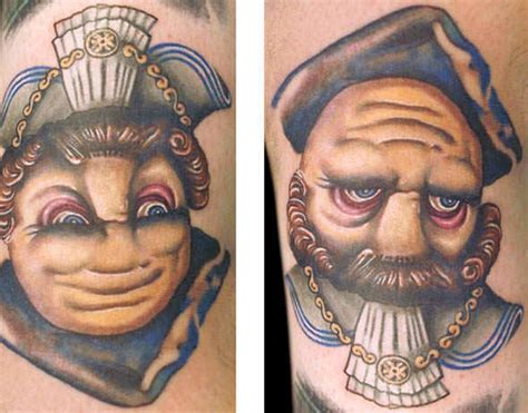 queen face tattoo looking at this tattoo from different directions reveals