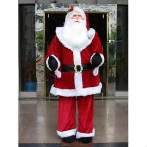 huge 6 foot life size decorative plush santa claus