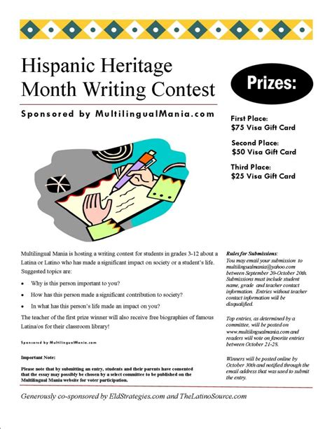 Hispanic Heritage Essay by Hispanic Heritage Month Student Writing Contest
