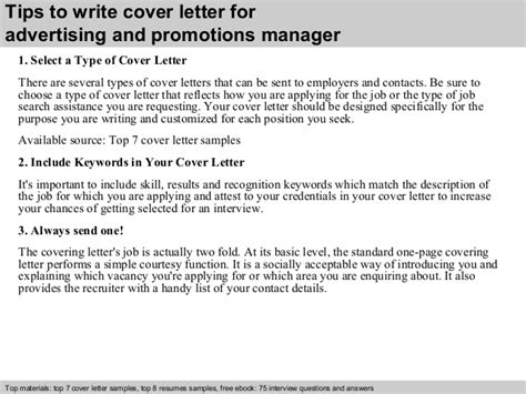 cover letter for promotion to management position advertising and promotions manager cover letter
