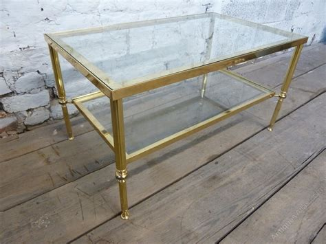 Antiques Atlas Vintage Brass Coffee Table With Glass Shelves Vintage Window Coffee Table