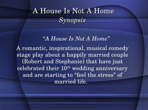 a house is not a home musical a house is not a home version 1 3 minus