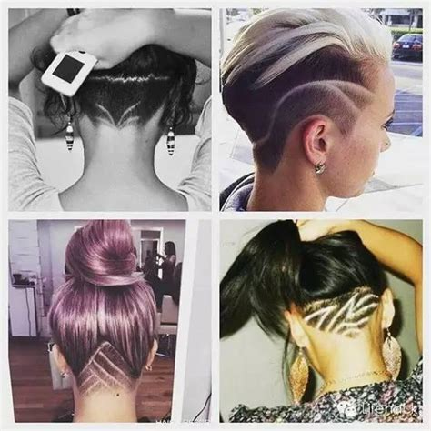 pictures of womens hair styles with long bottom and short top 欧美时尚icon都在玩雕花发型 简直帅炸