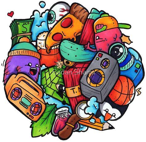 doodle le do quot doodle shrimpy draws quot prints by eadan shamir