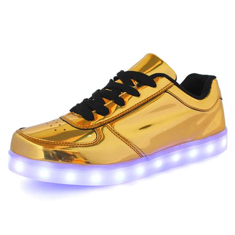 sneakers for adults 2016 dogeek silver glod led shoes for and light