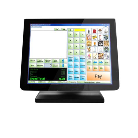Monitor Led Touchscreen 15 quot resistive touch screen monitor bezel free best pos aidc products best pos aidc products