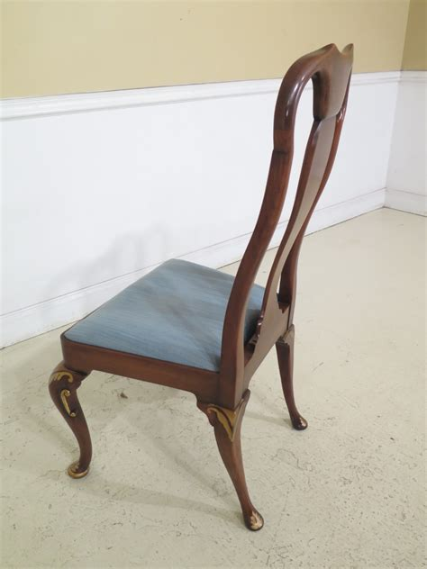 lec set   baker cherry queen anne dining chairs