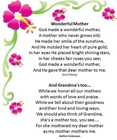 S Day Poem Best 30 Mothers Day Poems Quotes