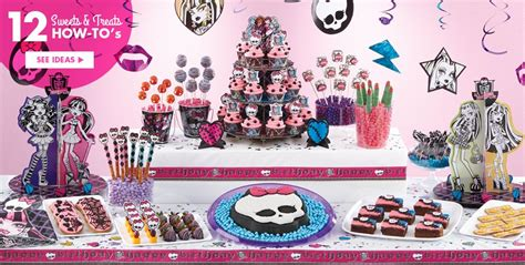birthday themes at party city monster high party supplies monster high birthday ideas