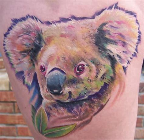 tribal bear paw  face tattoo