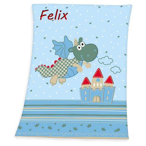 Babydecke mit Namen bestickt Decke 75x100 cm Geschenk zur