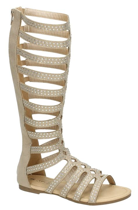 knee high strappy heels knee high strappy gladiator sandals flat