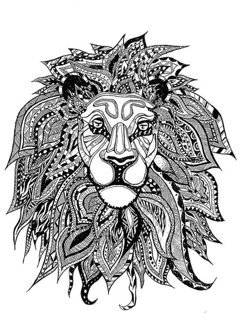zentangle lion zentangle spiratie pinterest american hippie art coloring page zentangle lion
