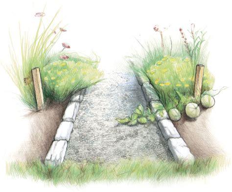 build a stone edged gravel path vegetable gardener