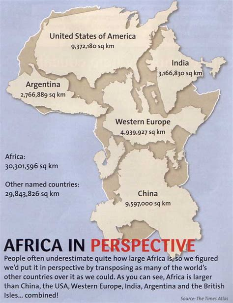 size of africa map has africa always had the problems it has today