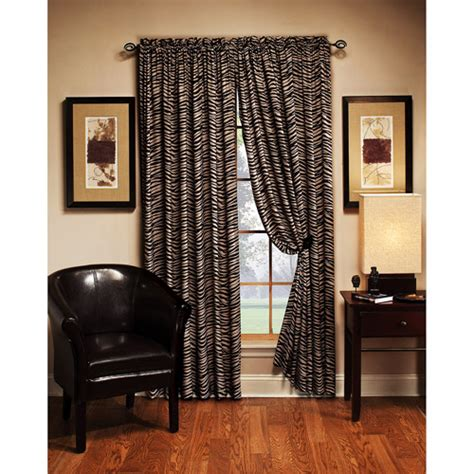 leopard curtains walmart zebra print curtain panel 54 quot x84 quot decor walmart com