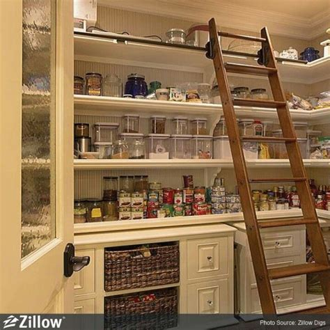 Pantry Ladder by Awesome Pantry Sliding Ladder Want For The Home