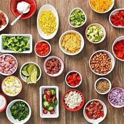 Toppings For A Baked Potato Bar by Easy Buffet Idea Baked Potato Bar Pinto Beans