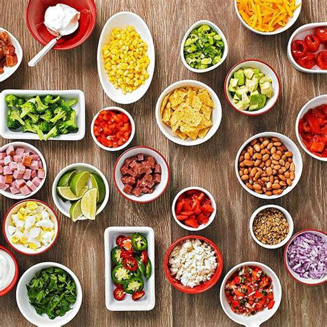 toppings for potato bar easy buffet party idea baked potato bar pinto beans