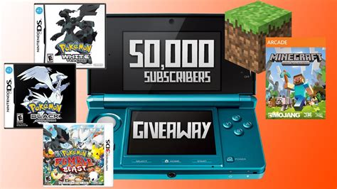 Nintendo 3ds Giveaway - 50 000 subcriber giveaway nintendo 3ds pok 233 mon minecraft xbox edition youtube