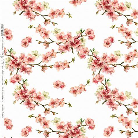 Designer Upholstery Curtain Vintage Floral Fabric Cherry Blossom Cotton Linen   eBay