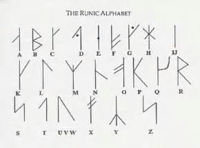 m viking alphabet symbols on my left knuckles
