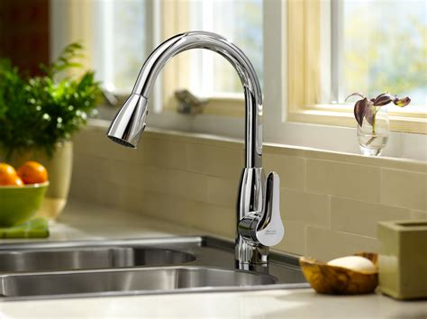 pictures of kitchen sinks and faucets american standard 4175 300 075 colony soft pull down