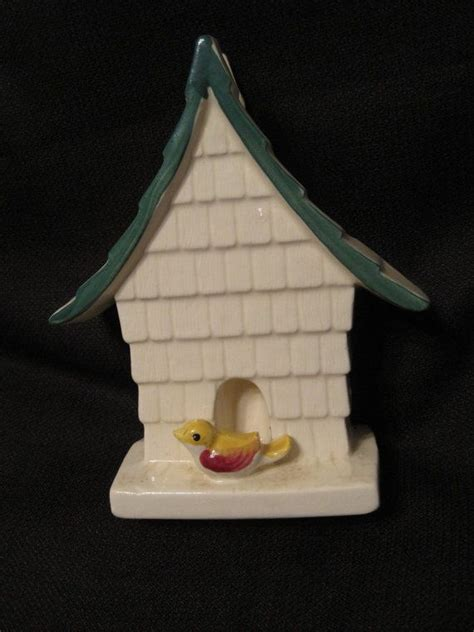 Ceramic Wall Pocket Vases by Vintage Ceramic Bird Birdhouse Vase Wall Pocket