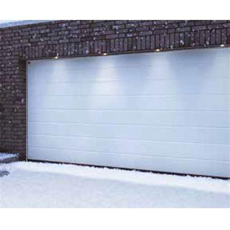 porte de garage sectionnelle isol 233 e et motoris 233 e blanche