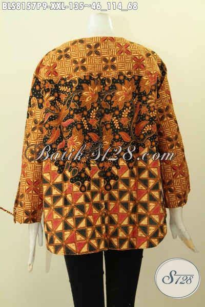 desain baju batik buat orang gemuk model baju batik etnik untuk wanita dengan desain modern
