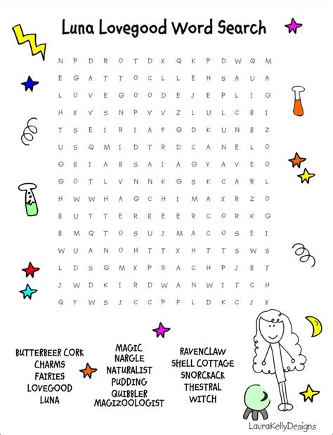 printable word search harry potter 17 best images about free children s word searches on