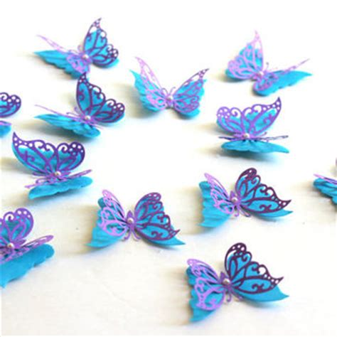 How To Make A 3d Paper Butterfly - 3d butterflies 3d butterfly wall from mydreamdecors