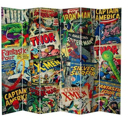 comic book bedroom fanboy furniture marvel comic book covers room divider
