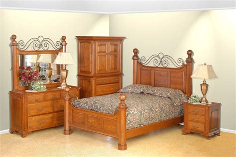 amish bedroom sets amish oak savannah bedroom set