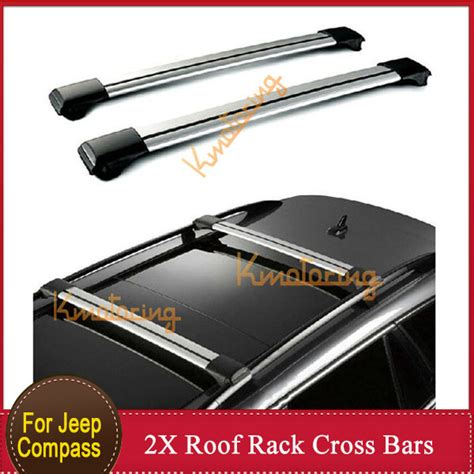 2011 Jeep Compass Roof Rack by 2x Roof Rack Cross Bars For Jeep Compass 2011 2014 Black
