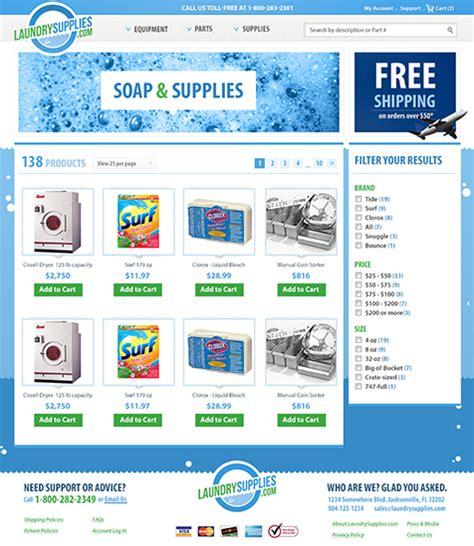 category designs laundrysupplies com brand design ecommerce web design