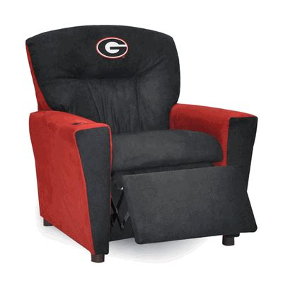 bulldog recliner kidz world georgia bulldogs recliner child recliners
