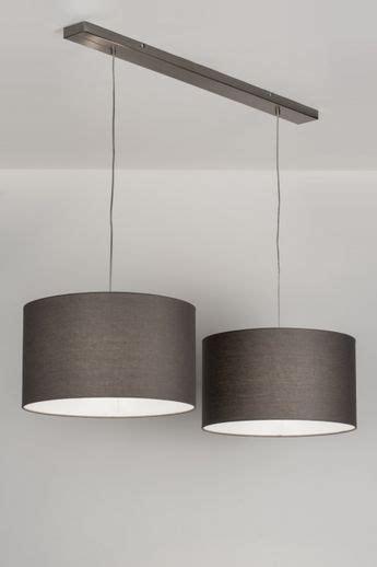lampara colgante  moderno gris tela redonda