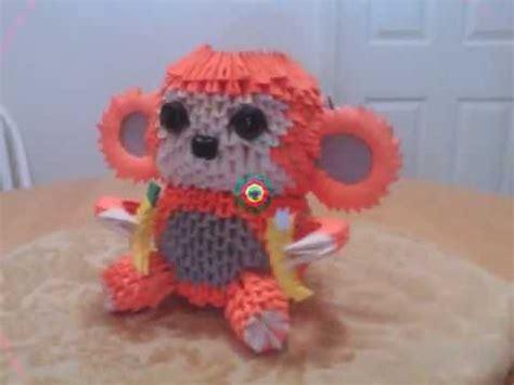 3d Origami Monkey - 3d origami monkey